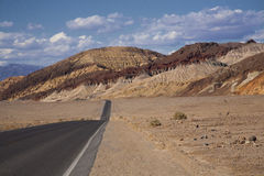 Death Valley Highway. Landscape photo of Death Valley National Park and the highway that runs through the park Stock Photos