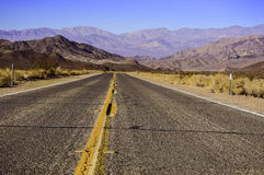 Death Valley Highway Stock Image