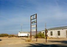 Death Valley Hotel Sign california desert. Hotel sign death valley california Royalty Free Stock Photo