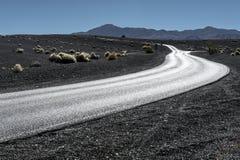 Death Valley huvudväg Arkivbild