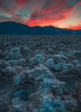 Death Valley inferno Arkivbild