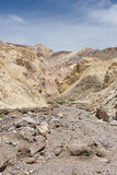 Death Valley landscape. Scenic view of dry river bed in Golden Canyon, Death Valley, Mojave Desert, California and Nevada, U.S.A Stock Photography