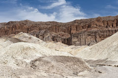 Death Valley landscape. Scenic view of dry river bed in Golden Canyon, Death Valley, Mojave desert, California, and Nevada, U.S.A Stock Image