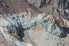 Death Valley landscape. Aerial view of Death Valley landscape with colorful mineral deposits in mountains, California and Nevada, U.S.A Royalty Free Stock Photography