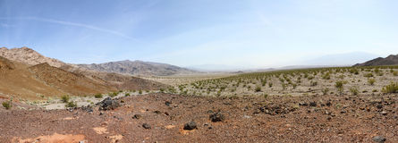 Death valley landscape. Panorama view of Death Valley National Park Royalty Free Stock Photos