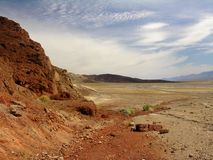 Death Valley Landscape. Panorama view of Death Valley National Park Stock Images
