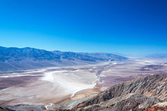 Death Valley Landscape. As seen from the top of Dantes View Stock Images