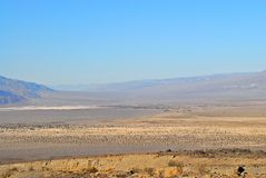 Death Valley landscape. Death Valley desert landscape receding into haze Royalty Free Stock Photos