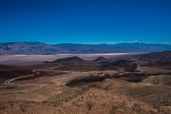 Death Valley Landscape from Father Clowley Point. Panamint Valley Death Valley from Father Crowley Vista Point California Stock Image