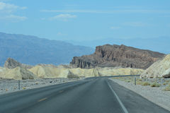 Death Valley Landscape. And highway in summer Royalty Free Stock Photography