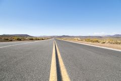 Death Valley Landscape. A road running through Death Valley in California Royalty Free Stock Photos