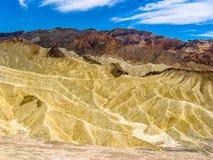 Death Valley Landscape, Zabriskie Point Stock Photos