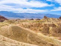 Death Valley Landscape, Zabriskie Point Royalty Free Stock Images