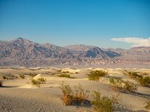 Death Valley National Park, Mojave Desert road sigh, California, USA: The hottest place on the planet Earth. Death Valley, Mojave Desert road, California, USA royalty free stock image