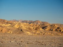 Death Valley National Park, Mojave Desert road sigh, California, USA: The hottest place on the planet Earth. Death Valley, Mojave Desert road, California, USA stock images
