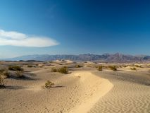 Death Valley National Park, Mojave Desert road sigh, California, USA: The hottest place on the planet Earth. Death Valley, Mojave Desert road, California, USA royalty free stock photography