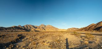 Death Valley National Park, Mojave Desert, California, USA: The hottest place on the planet Earth. Death Valley, Mojave Desert road, California, USA: The hottest royalty free stock photos