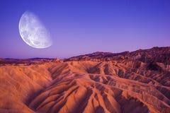 Death Valley Moon Night Stock Photo