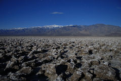 Death Valley in moonlight Royalty Free Stock Image