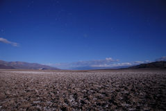 Death Valley in moonlight Stock Photo