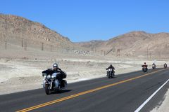 Death Valley motorbikes stock image