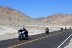 Death Valley motorbikes Stock Image
