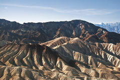 Death Valley Mountains. This is a picture of the folded mountains of Death Valley National Park royalty free stock photo