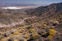 Death valley mountains. View over Death Valley from the mountains (Death Valley national park, California, USA Stock Images