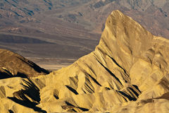 Death Valley National Park. Scenic view of Manly Beacon viewed from Zabriskie Point in Death Valley National Park, California, U. S. A stock photography