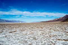 Death Valley National Park Bad Water Basin Stock Photos