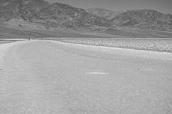 Death Valley National Park - Badwater Basin. B&W at the Badwater Basin in Death Valley National Park Royalty Free Stock Photography