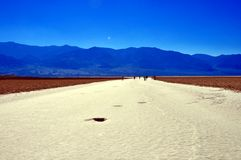 Death Valley National park - Badwater Basin. California (USA) - Spectacular view of Badwater Basin during a sunny day at Death Valley National Park Stock Image