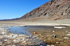 Death Valley National park - Badwater Basin. California (USA) - Spectacular view of Badwater Basin during a sunny day at Death Valley National Park Royalty Free Stock Images