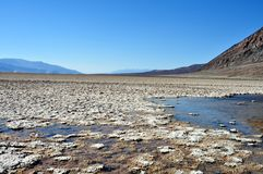 Death Valley National park - Badwater Basin. California (USA) - Spectacular view of Badwater Basin during a sunny day at Death Valley National Park Stock Photos