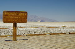 Death Valley National Park - Badwater Basin. View at the Death Valley National Park Stock Images