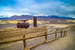 A large wagon in Death Valley National Park, California stock photos