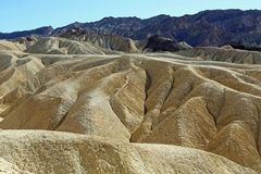 Dramatic badland in Zabriskie Point. Death Valley National Park, California Royalty Free Stock Images