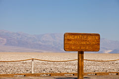 Death Valley National park, California USA, Badwater Basin Royalty Free Stock Image