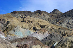 Death Valley National Park, Detail of Mountains. Colorful minerals can be seen in the rock of the desert mountains of Death Valley National Park in Nevada/ Stock Images