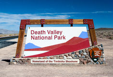 Death Valley National Park. Entrance sign of Death Valley National Park Royalty Free Stock Photo