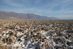 Death Valley National Park - salt moulds Royalty Free Stock Image