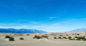Death Valley National Park Sand Dunes and Mountains Royalty Free Stock Photo