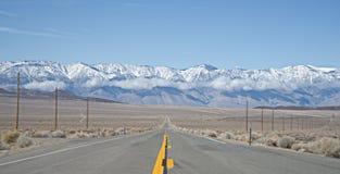 Death Valley National Park - Sierra Nevada Mountain range stock image