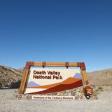 Death Valley National Park sign. Stock Images