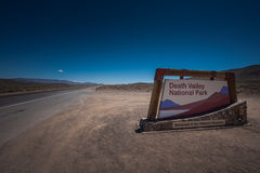 Death Valley National Park Sign Royalty Free Stock Photo