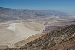 Death Valley National Park. View at the Death Valley National Park Stock Images