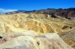 Death Valley National park - Zabriskie point. California (USA) - Spectacular view of Zabriskie Point during a sunny day at Death Valley National Park Royalty Free Stock Images