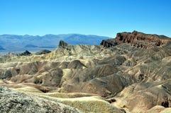 Death Valley National Park - Zabriskie Point. California (USA) - Spectacular view of Zabriskie Point during a sunny day at Death Valley National Park Stock Photo