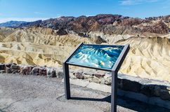 Death Valley, National Park, Zabriskie Point Royalty Free Stock Images