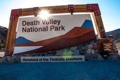 DEATH VALLEY NATIONALPARK - SEPTEMBER 7, 2015 royaltyfri bild